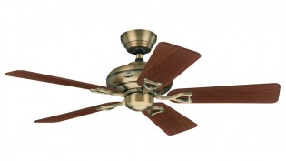 Hunter Seville II Fan In Antique Brass - 24034